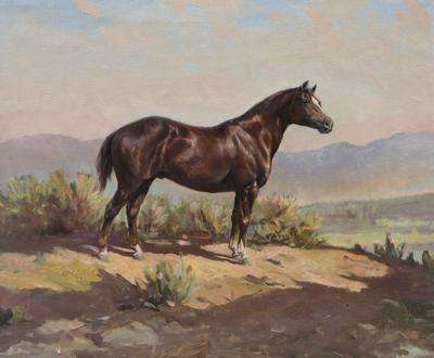 Olaf Wieghorst, Red Beaver, Oil on Canvas, c. 1952-53, 20
