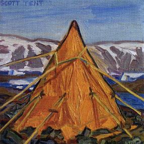 James Woodside, Scott Tent, Oil on Panel, 8