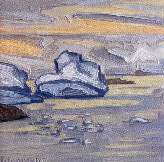 James Woodside, Evening Light at Old Palmer, Oil on Panel, 6