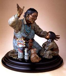 "Star Liana York, Grandma's Gifts, Bronze Edition of 35, 24"" x 24"" x 24"""