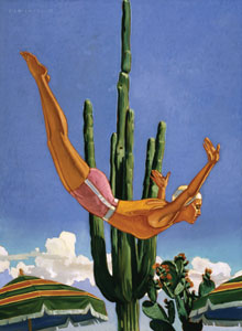 "Dennis Ziemienski, Desert Plunge, Oil on Canvas, 48"" x 36"""