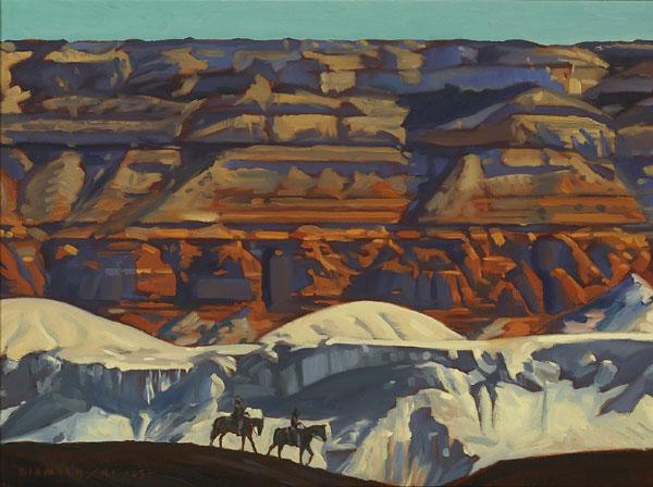 Dennis Ziemienski, Navajo Sandstone, Oil on Canvas, 48